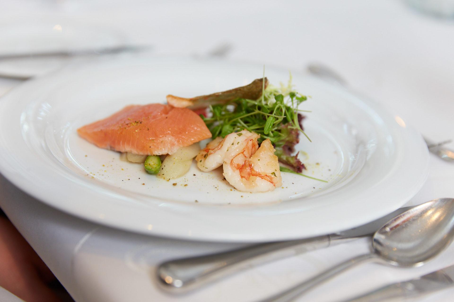 Leckere Fischgerichte im Restaurant Aramis